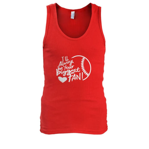 Image of Ill Always Be Your Biggest Fan Tank - Red / S / Mens Tank Top - Tank Tops