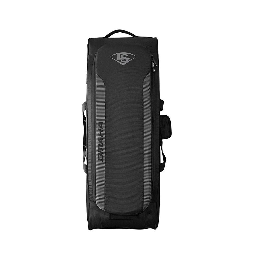 Louisville Slugger Omaha Rig Wheeled Baseball Bag Black - Sporting Goods