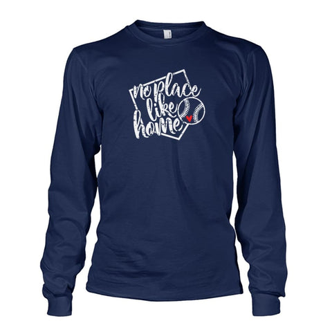 Image of No Place Like Home Long Sleeve - Navy / S / Unisex Long Sleeve - Long Sleeves