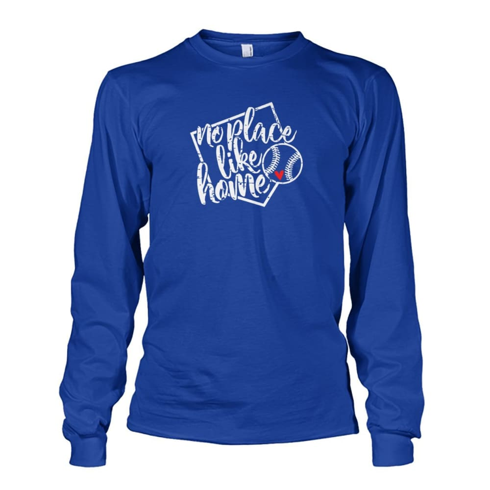 No Place Like Home Long Sleeve - Royal / S / Unisex Long Sleeve - Long Sleeves