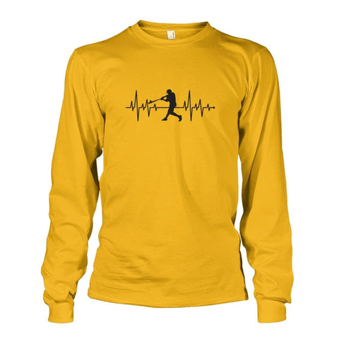 Image of One With Baseball Long Sleeve - Gold / S / Unisex Long Sleeve - Long Sleeves