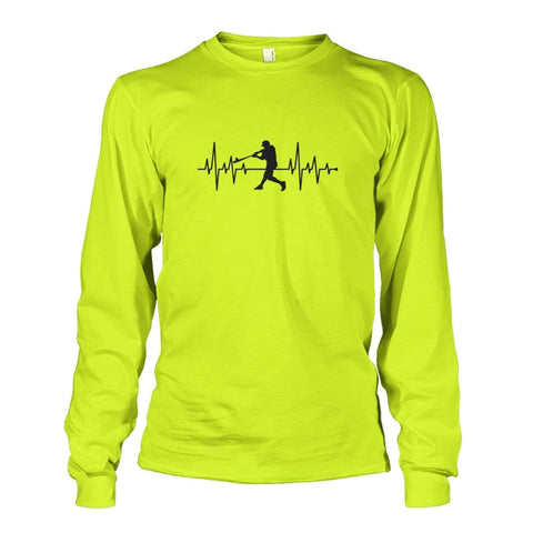 Image of One With Baseball Long Sleeve - Safety Green / S / Unisex Long Sleeve - Long Sleeves