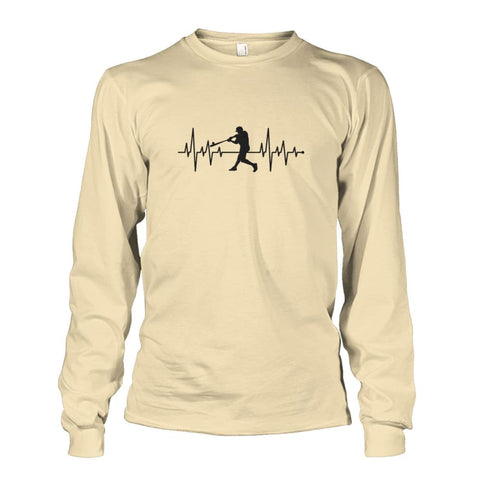 Image of One With Baseball Long Sleeve - Sand / S / Unisex Long Sleeve - Long Sleeves