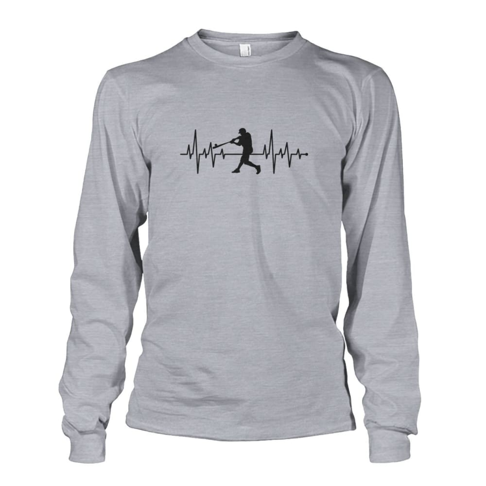One With Baseball Long Sleeve - Sports Grey / S / Unisex Long Sleeve - Long Sleeves