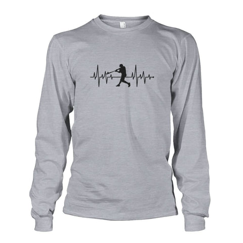 Image of One With Baseball Long Sleeve - Sports Grey / S / Unisex Long Sleeve - Long Sleeves