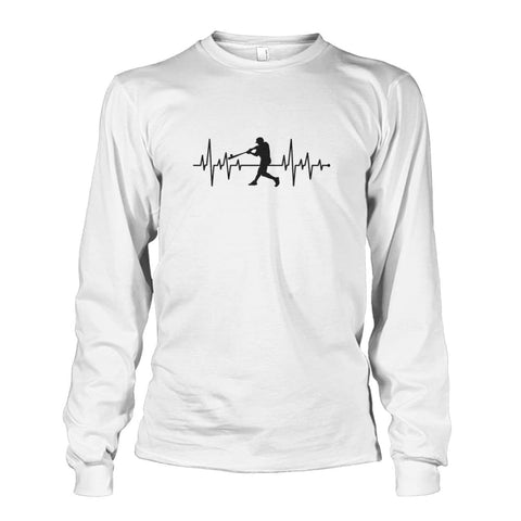 Image of One With Baseball Long Sleeve - White / S / Unisex Long Sleeve - Long Sleeves