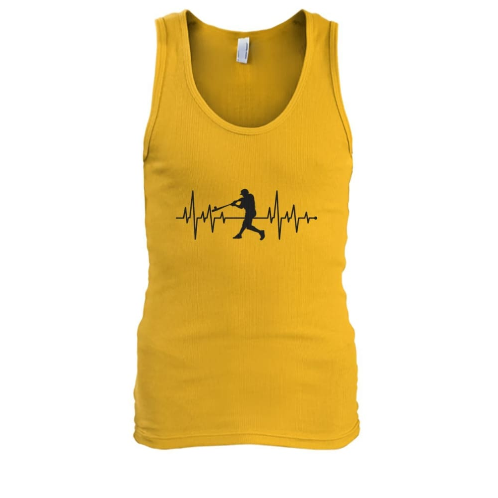 One With Baseball Tank - Gold / S / Mens Tank Top - Tank Tops