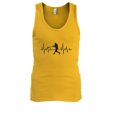 Image of One With Baseball Tank - Gold / S / Mens Tank Top - Tank Tops