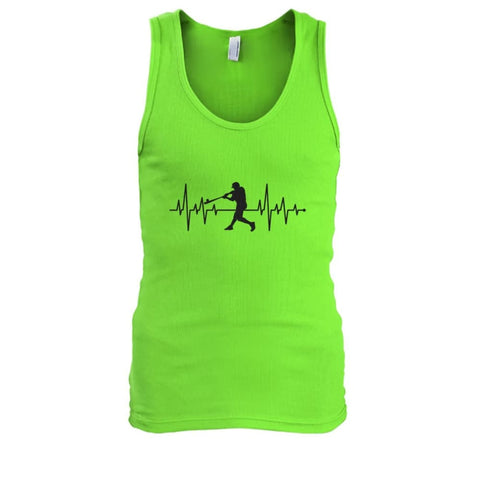 Image of One With Baseball Tank - Lime / S / Mens Tank Top - Tank Tops