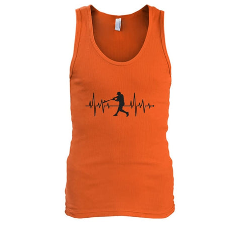 Image of One With Baseball Tank - Orange / S / Mens Tank Top - Tank Tops