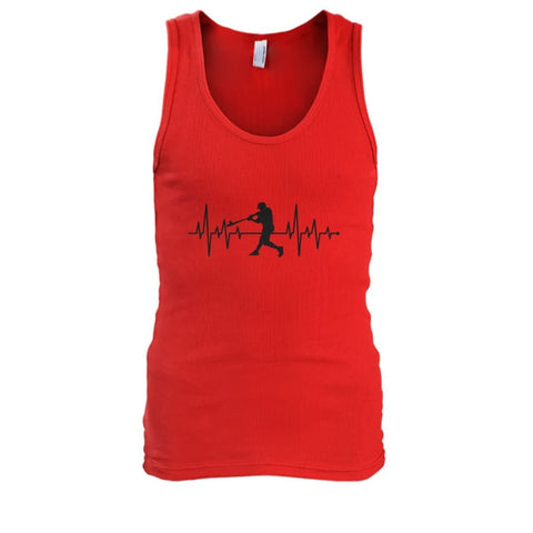 Image of One With Baseball Tank - Red / S / Mens Tank Top - Tank Tops