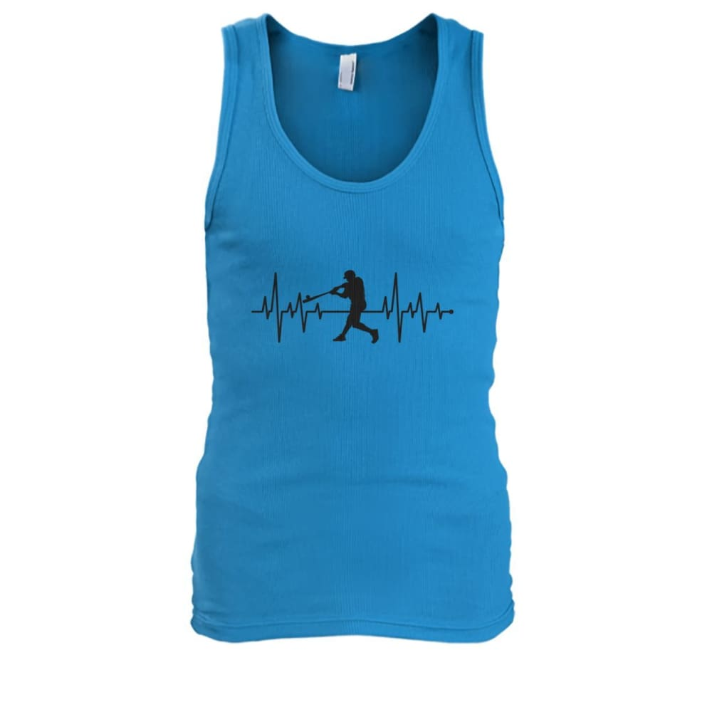 One With Baseball Tank - Sapphire / S / Mens Tank Top - Tank Tops