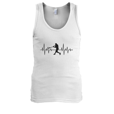 Image of One With Baseball Tank - White / S / Mens Tank Top - Tank Tops