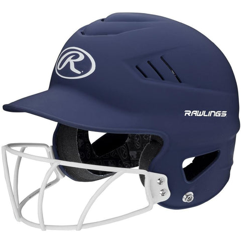 Rawlings Coolflo Highlighter Softball Helmet-face Guard-navy - Sporting Goods