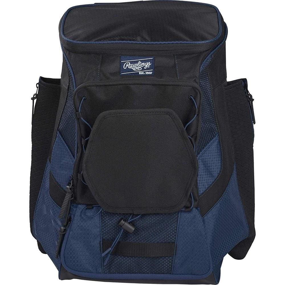 Rawlings R600 Players Baseball Backpack Navy - Sporting Goods