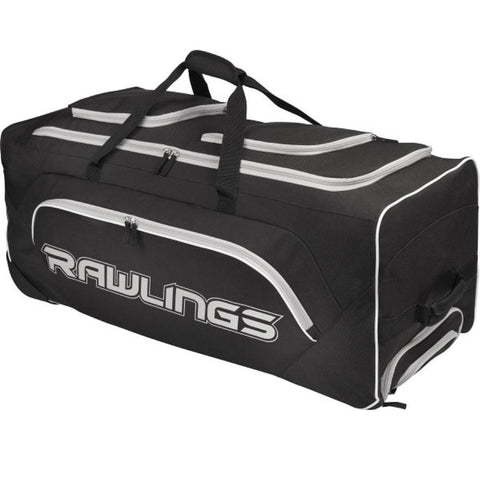 Rawlings Wheeled Catchers Bag - Black - Sporting Goods