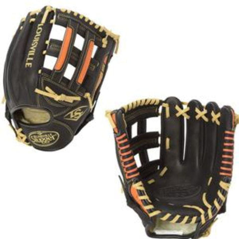 Wilson Gaming Gloves BLACK ORANGE H-Web