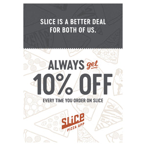 Menu Discount Table Tents - SHOPSLICE