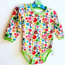 Load image into Gallery viewer, Handmade Baby Set 'Buttons'- READY TO SHIP size 3-6m
