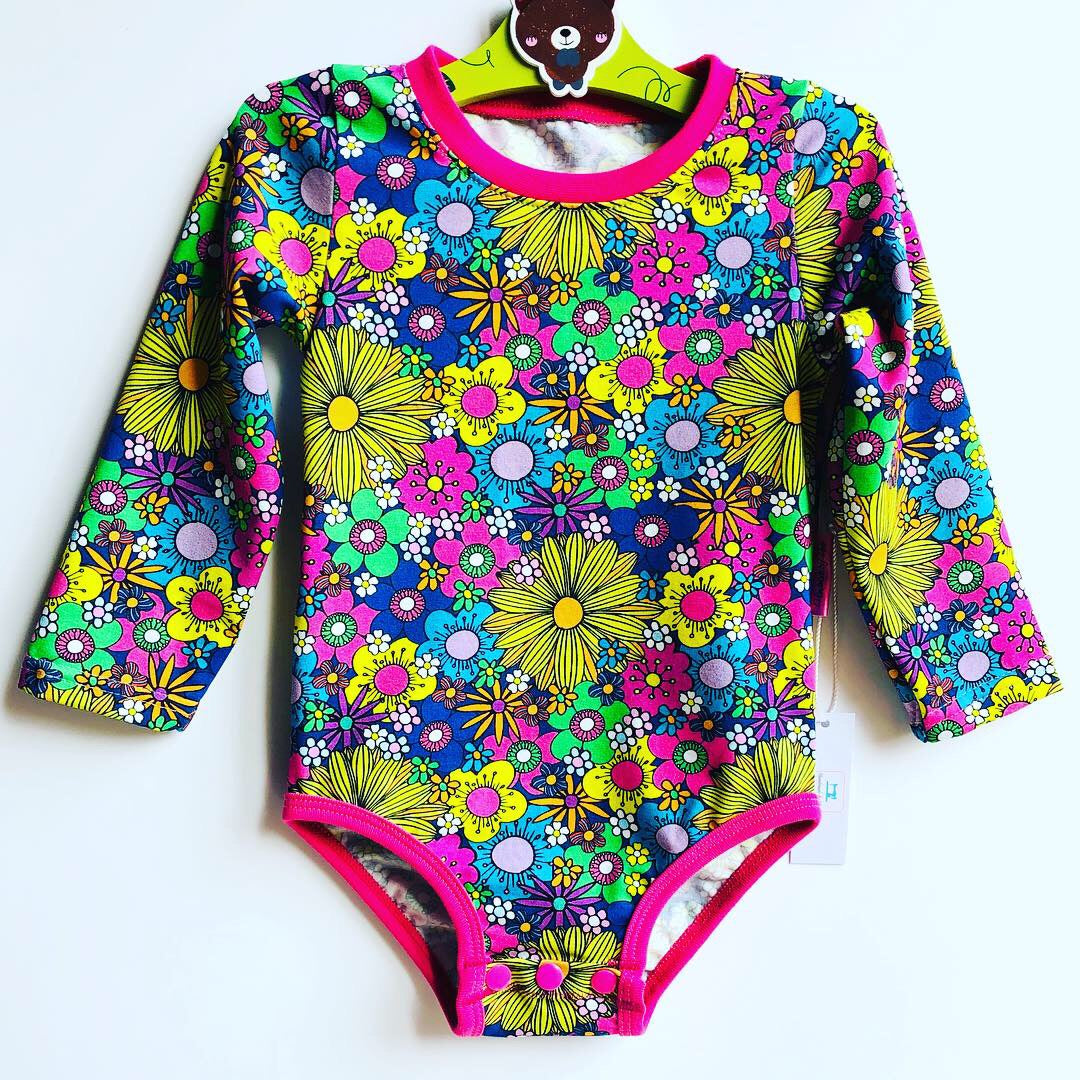 Handmade baby T-shirt/bodysuit All in 1 'April' - made to order