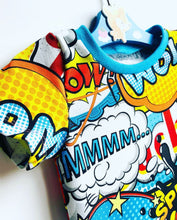 Load image into Gallery viewer, Handmade baby T-shirt/bodysuit All in 1 'WOW!' - made to order