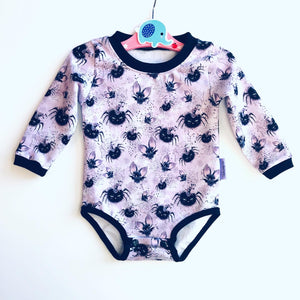Handmade Baby T-shirt/bodysuit All in 1 'Bats & Ears' - READY TO SHIP size 3-6m