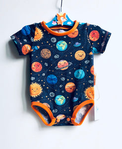 Handmade baby T-shirt/bodysuit All in 1 'Solar System' - made to order