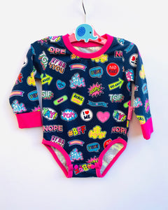 Handmade Baby Set '#BFF' - READY TO SHIP size 3-6m