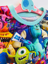 Load image into Gallery viewer, Handmade Baby Set 'Monsters University' - READY TO SHIP size 3-6m