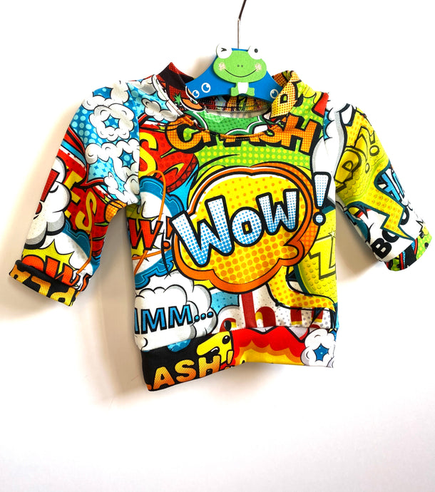 Handmade 'WOW!' Tee - READY TO SHIP size 0-3m