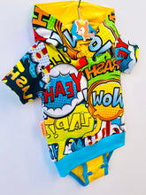 Load image into Gallery viewer, Handmade Baby Hoodie/Bodysuit mashup 2in1 'WOW!'-  READY TO SHIP size 3-6m