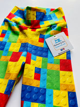 Load image into Gallery viewer, Handmade leggings/yoga pants style 'Lego'; size 2T - READY TO SHIP