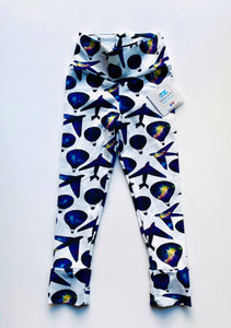 Handmade leggings/yoga pants style 'Hot Air Balloons'; size 2T - READY TO SHIP