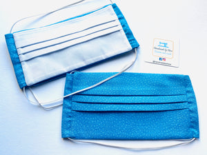 Fabric Face Mask with elastic (Barrier Mask) - Blue Attire