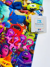 Load image into Gallery viewer, Handmade leggings/yoga pants style 'Monsters University'; size 2T - READY TO SHIP