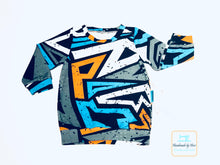 Load image into Gallery viewer, Handmade Baby T-shirt 'Graffiti' - made to order