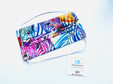 Load image into Gallery viewer, Fabric Face Mask with elastic (Barrier Mask) - Summer Zebras