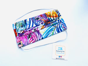 Fabric Face Mask with elastic (Barrier Mask) - Summer Zebras
