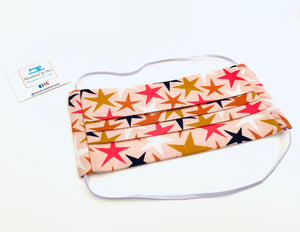 Fabric Face Mask with elastic (Barrier Mask) - Colourful Stars