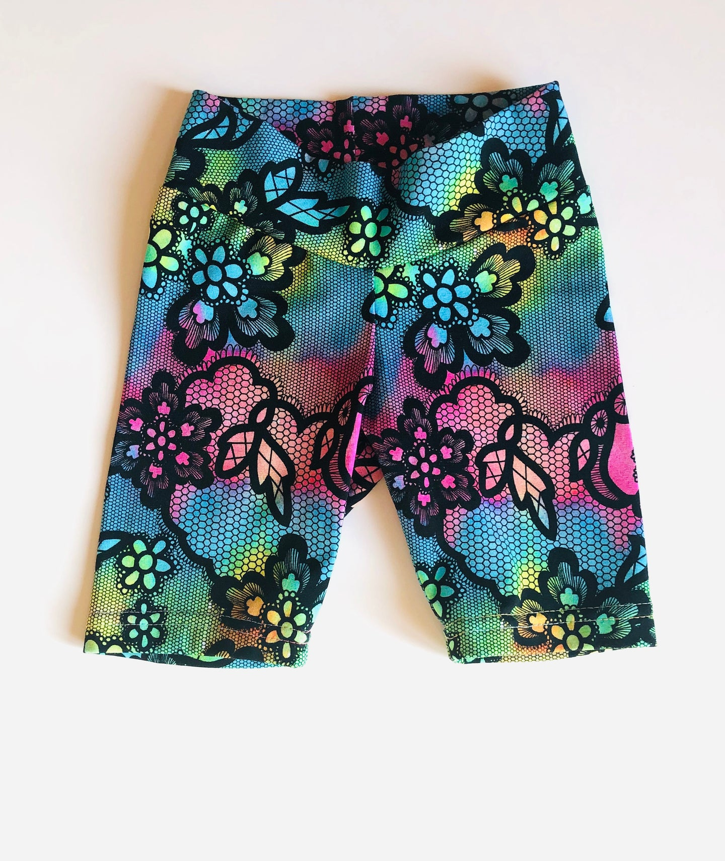 Handmade shorts 'Rainbow lace' size 2T- READY TO SHIP