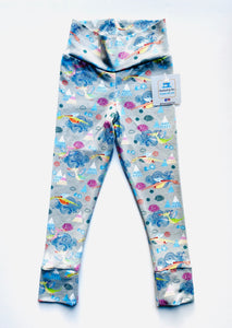 Handmade leggings/yoga pants style 'Flying Dragons'; size 2T - READY TO SHIP