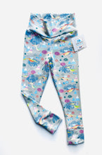 Load image into Gallery viewer, Handmade leggings/yoga pants style 'Flying Dragons'; size 2T - READY TO SHIP