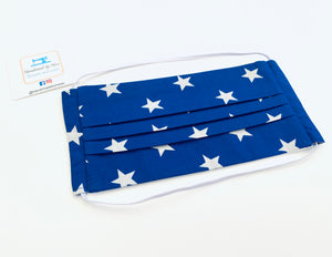 Fabric Face Mask with elastic (Barrier Mask) - Royal Stars
