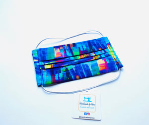 Fabric Face Mask with elastic (Barrier Mask) - Kaleidoscope ***BACK IN STOCK***