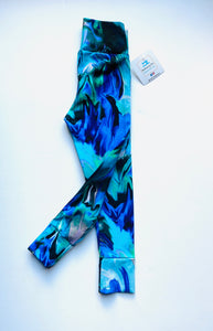 Handmade leggings/yoga pants style 'Abstract'; size 2T - READY TO SHIP