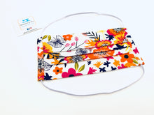 Load image into Gallery viewer, Fabric Face Mask with elastic - Summer Flowers