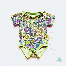 Load image into Gallery viewer, Handmade Baby Bodysuit 'Floral Ornament' - made to order