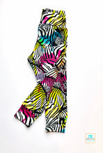 Load image into Gallery viewer, Handmade yoga pants/leggings 'Rainbow Zebras' - made to order