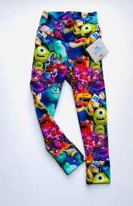 Handmade leggings/yoga pants style 'Monsters University'; size 2T - READY TO SHIP