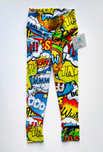 Load image into Gallery viewer, Handmade leggings/yoga pants style 'WOW!'; size 2T - READY TO SHIP